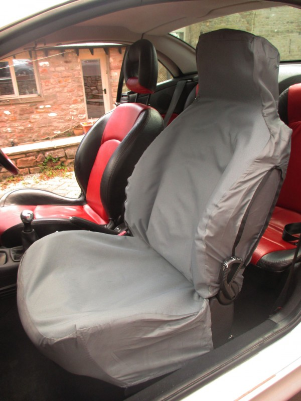 Kia Optima waterproof semi custom seat covers in grey